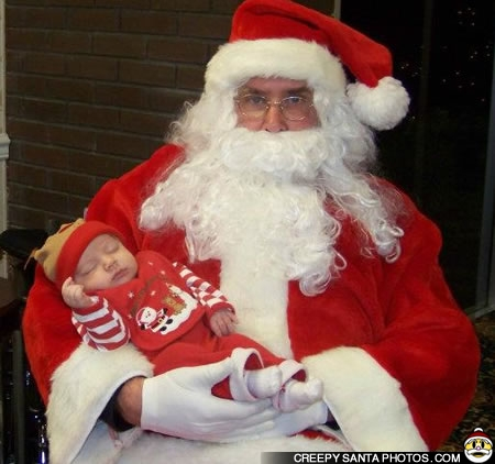 This was his first visit seeing santa as the boy is fast asleep santa just look way to sketchy thanks dana