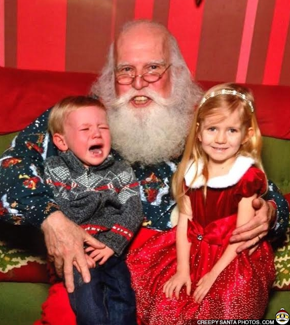 santa with big teeth