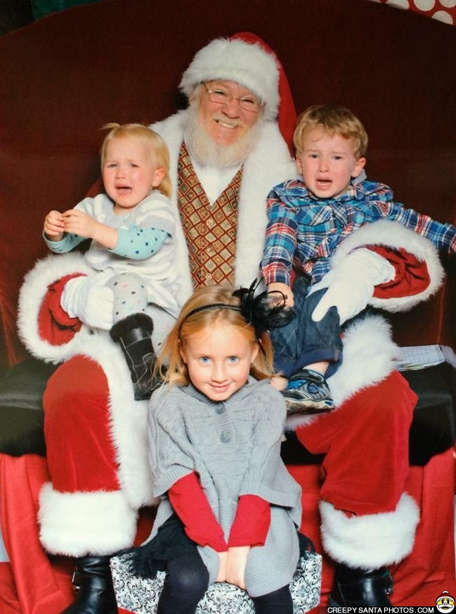 one good little girl with santa